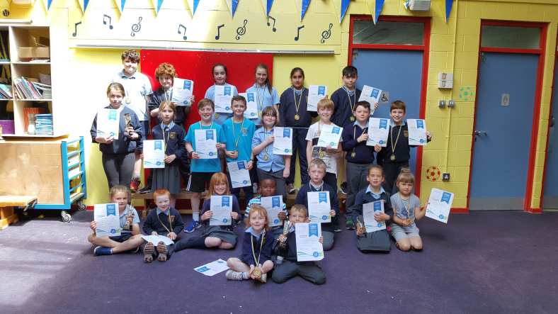St. Aidan's National School - Attendance Awards - 21st June 2018