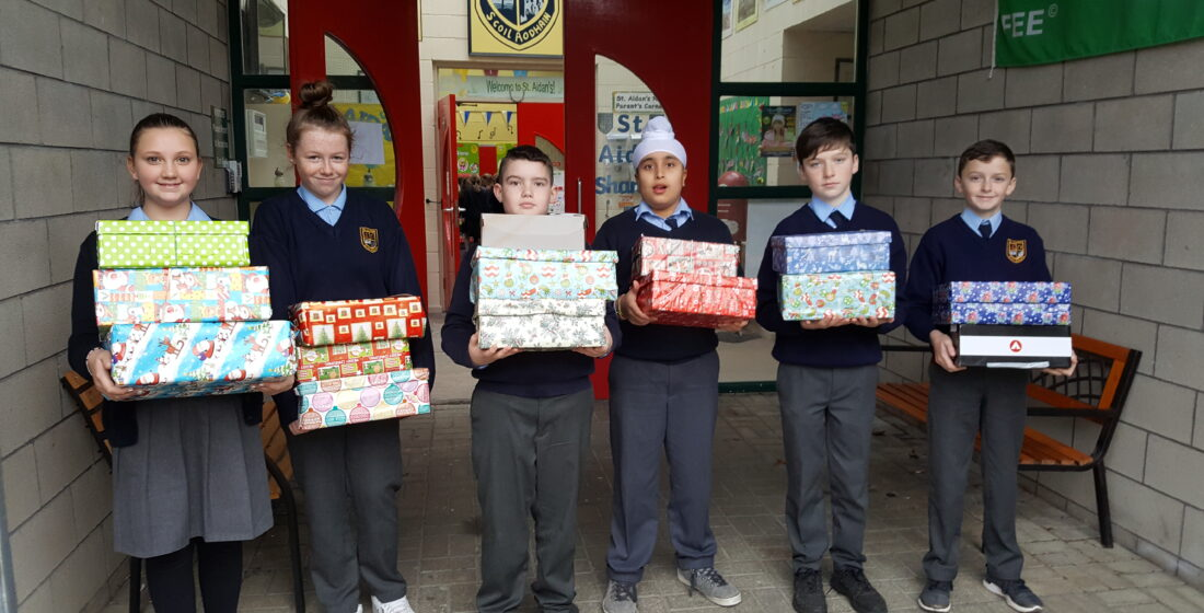 St. Aidan's National School - Christmas Shoe Box Appeal - 19th November 2018